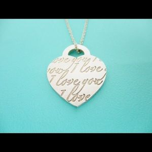 Tiffany & Co. I Love You Sterling Silver Necklace